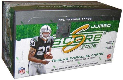 2008 Score Football (2008 Score Football Cards Unopened Jumbo Hobby Box (12 packs, 32 cards per pack) - Great inserts & Rookies!)