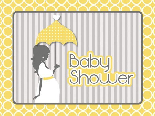 Mod Baby Shower Invitation Postcard (8) Invites Baby Shower -