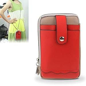 Caso de PU universal Cruz Textura Diagonal Bolsa Estilo de bolsillo de la manga para ZTE V887