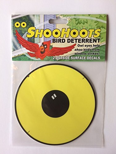 Amazoncom ShooHoots Bird Window Deterrent Decal Garden Outdoor - Window alert hummingbird decals amazon