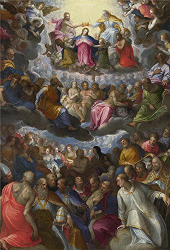 ['Johann Rottenhammer The Coronation Of The Virgin ' Oil Painting, 10 X 15 Inch / 25 X 37 Cm ,printed On Polyster Canvas ,this Imitations Art DecorativeCanvas Prints Is Perfectly Suitalbe For Living Room Decor And Home Decor And Gifts] (Human Spider Costume Code)