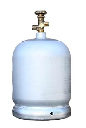 Aluminio de bombona 2 kg vacío incluso para rellenar/Butan Propan umfüllbar