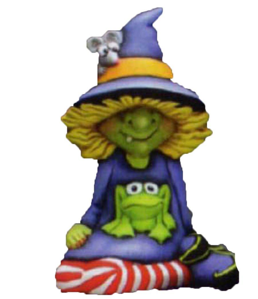 "Winnie Witch 7"" Ceramic Bisque, Ready To Paint CreativeKreationsCeramics"