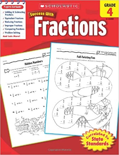 Amazon.com: Scholastic Success with Fractions, Grade 4 ...