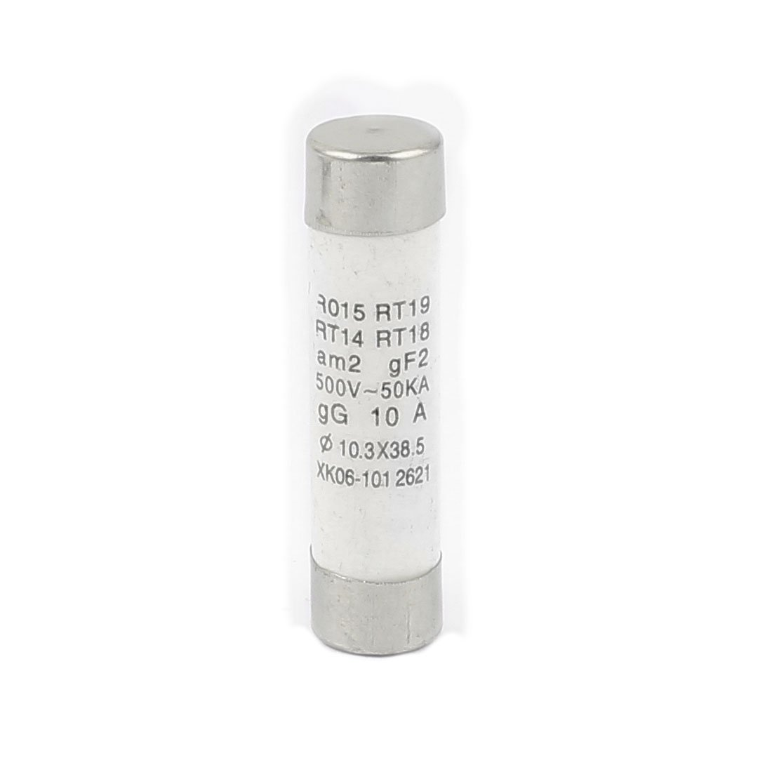 uxcell 9Pcs AC 500V 10A RO15 RT18 RT14 10x38mm Fast Blow Cylindrical Ceramic Tube Fuses a16041400ux0316