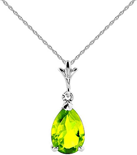 14K Yellow//White Gold Natural Peridot /& Diamond Charm Pendant for Necklace
