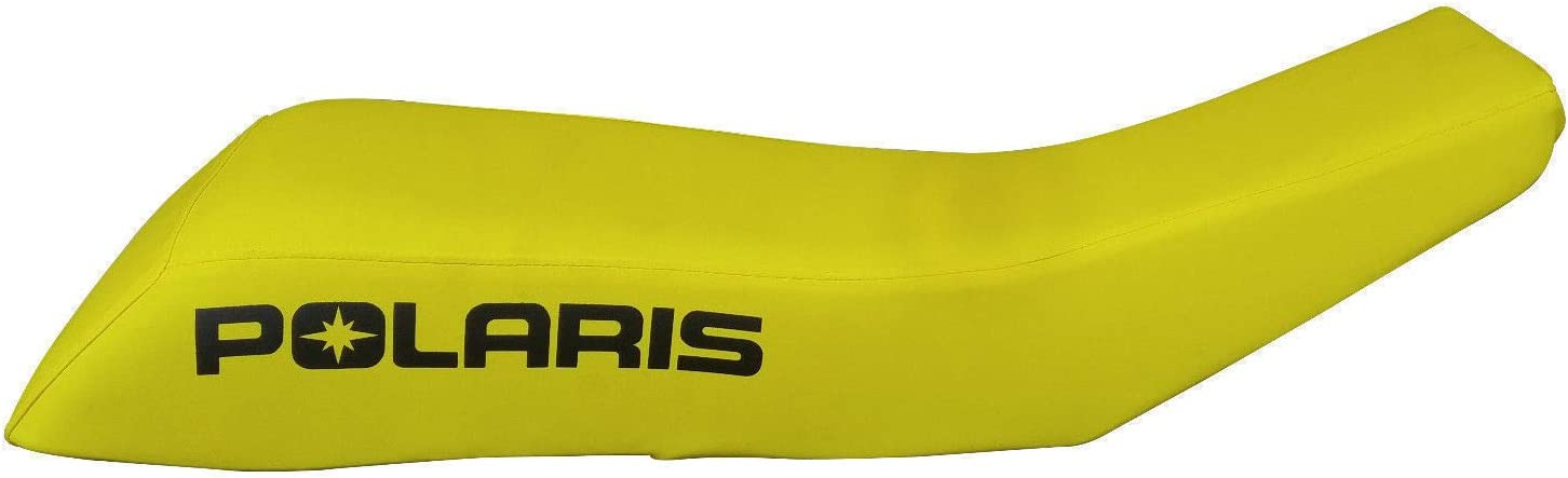 VPS Seat Cover Compatible With Polaris Scrambler Logo Yellow Standard ATV Seat Cover