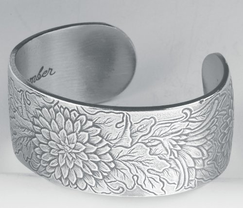 Pewter Flower of the Month Bracelet - Nov Month Pewter Bracelet