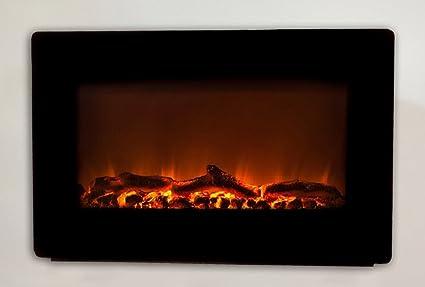 Amazoncom Wall Mounted Electric Fireplace Smokeless Fireplaces