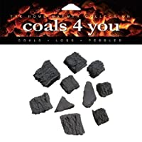 20 RANDOM SHAPED GAS FIRE CERAMIC COALS IN BRANDED COALS 4 YOU PACKAGING
