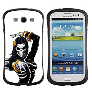 Be-Star Colorful Printed Design Anti-Shock Iface First Class Tpu Case Bumper Cover For SAMSUNG Galaxy S3 III / i9300 / i747 ( skull bride woman gold white black ) Kimberly Kurzendoerfer