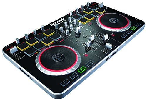 Numark Mixtrack Pro II USB DJ Controller with Integrated Audio Interface and Trigger Pads (Video Numark Controller)
