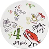 12 Days of Christmas Dessert Plates (Set of 4)  sc 1 st  Amazon.com & Amazon.com | Debbie Mumm 12 days of Christmas Series Stoneware ...