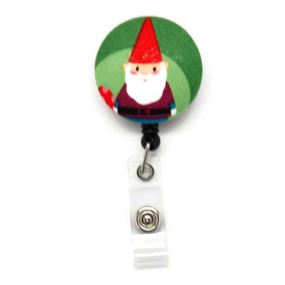 Gnome Badge Reel Retractable for ID or Key Card Free Shipping