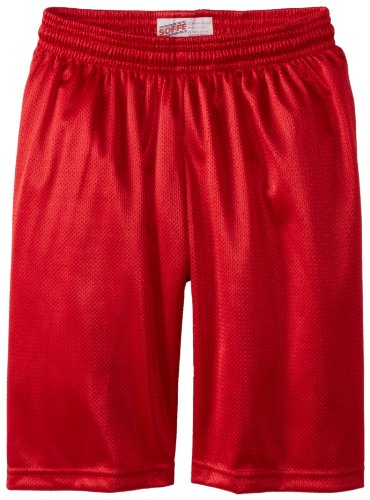 [Soffe Big Boys' 7 Inch Poly Mini Mesh Short, Red, Medium] (Red Boys Shorts)