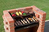 Built In BBQ 410 sq ins Brick Bbq Kit with Stainless Steel Cooking Grates & Cover