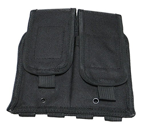 [Ultimate Arms Gear Stealth Black MOLLE Universal Double Rifle Magazine Pouch For Ruger 10/22 10-22 Mini 14 30 SR-556 SR-22 Rifle] (Mini 14 Magazine)
