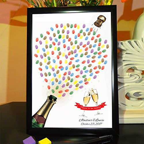 Sykdybz The Annual Celebration Of The Activities Of The Personalized Hand-Painted Creative Wedding Wedding Bookmarks To Fingerprint Graduation Pictures Creativity, Canvas 50×75Cm