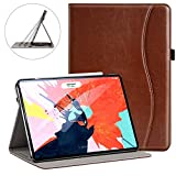 Ztotop for iPad Pro 12.9 Case 2018 - Premium Leather Slim Stand Cover Folio Case for iPad Pro 12.9-Inch 3rd Generation (Latest Model) with Auto Sleep Wake - Support Charge Pair - Brown