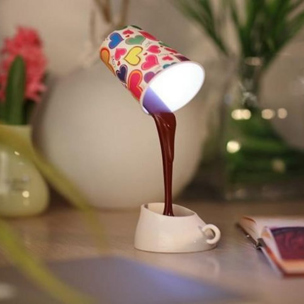 Amazon estone novelty diy led table lamp home romantic pour amazon estone novelty diy led table lamp home romantic pour coffee usb battery night light home improvement geotapseo Gallery