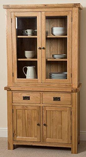 Cottage Solid Oak Small Dresser Cabinet Wall Unit, 191 x 43 x 98 cm