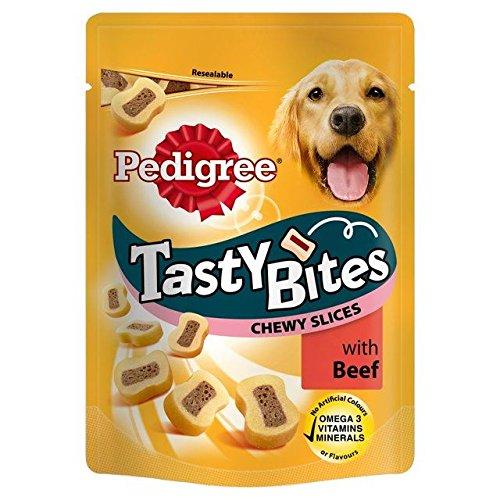 Pedigree Tasty Bites Dog Treats with Beef 155g