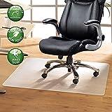YOUKADA Office Chair Mat for Hardwood Floor PVC Office Floor Mats | Office Floor Mat Transparent Office Floor Mat | BPA, Phthalate and Odor Free Rectangular Chair Mat - 30'' x 48''