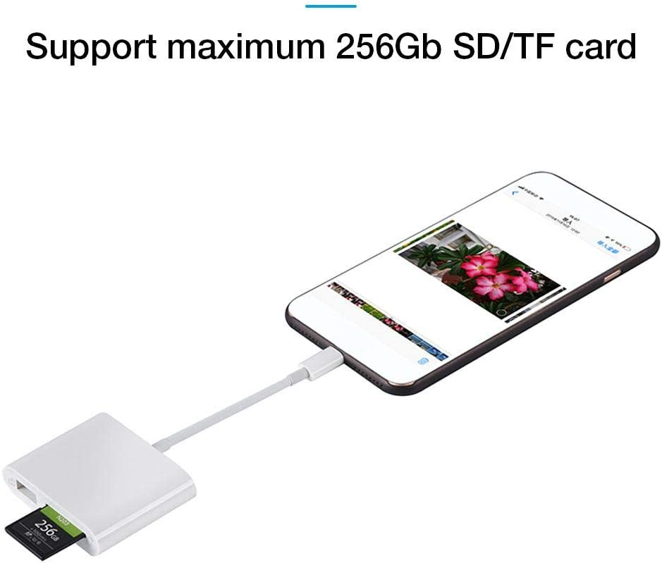 ditional 3 in 1 Adapter USB2.0//SD//TF Card Plug and Play Multifunction Camera Kit OTG Card Reader 3 in 1 TF USB Adapter SD Card Camera Reader Compatible with iPad advancement