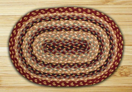Earth Rugs 52-PM357 Placemat, 13 x 19, Burgundy/Gray/Crème