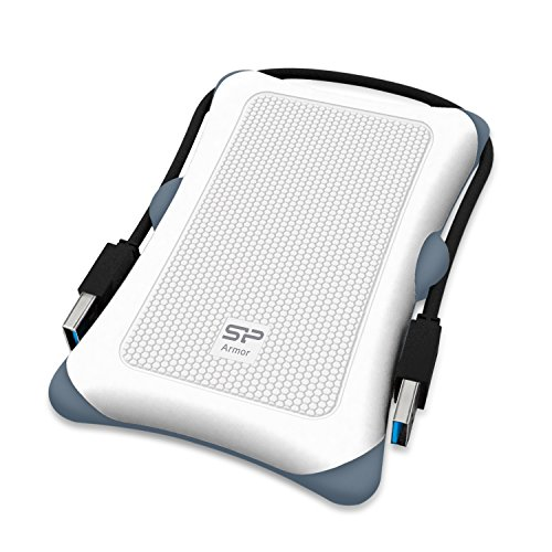 Silicon Power 2TB Rugged Armor A30 Military Grade Shockproof USB 3.0 2.5 Inch for PC,  PS4 Pro and PS4 Slim, White by Silicon Power (Image #2)