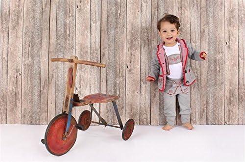 Eisenherz Baby Tracht M/ädchen Jungen Kapuzenjacke Sweatjacke mit Geweih fescher Trachtenlook in grau und rot