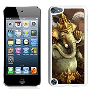 Beautiful And Unique Designed With Creature Elephant Warrior Weapon (2) For iPod 5 Phone Case