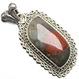 StarGems(tm) Natural Agate Unique Design 925 Sterling Silver Pendant 2""
