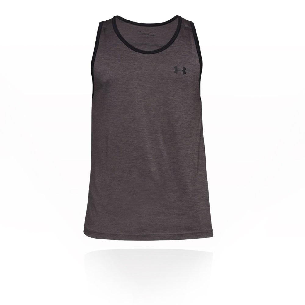 Under Armour Men's Tech Tank Top, Charcoal (020)/Black, X-Small
