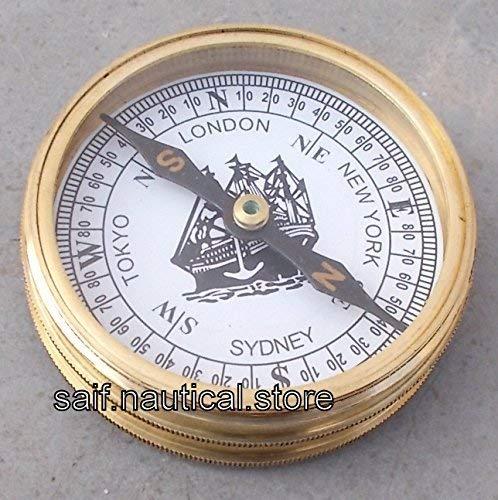 sadaf Nautical store 収集価値のある真鍮ビクトリア朝ポケットコンパス 1875 真鍮コンパス B07J1QKZ83