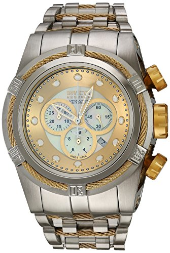 (Invicta Men's 0822 Reserve Chronograph Mother of Pearl Dial Stainless Steel Watch)