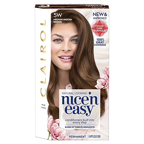 Clairol Nice 'n Easy, 5W/118B Medium Mocha Brown, Permanent Hair Color, 1 Kit (Packaging May Vary)