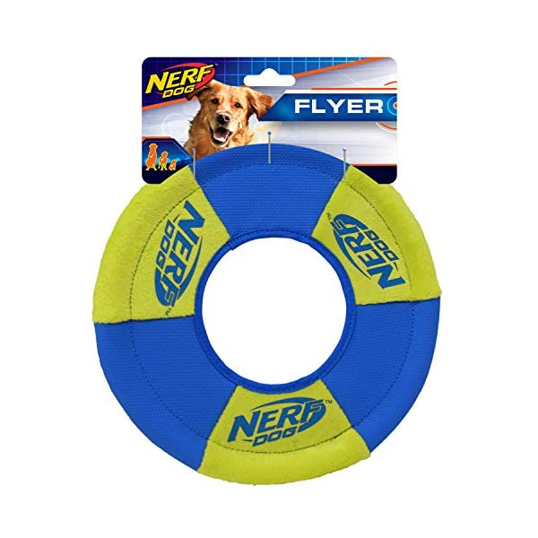Nerf Dog Ultra-Track Toss and Tug Ring Toy, Medium, Blue/Green 1