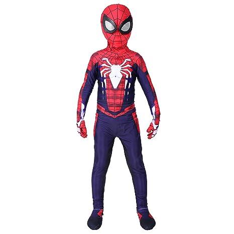 WEGCJU Niños Spider Man Spandex Lycra Traje De Spiderman ...