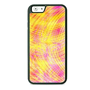 Case Fun Case Fun Yellow and Pink Swirls Style 2 TPU Rubber Back Case Cover for Apple iPhone 6 4.7 inch