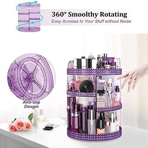 Awenia Makeup Organizer 360-Degree Rotating, Adjustable Makeup Storage, 7 Layers Large Capacity Cosmetic Storage Unit… 5