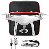 DJI Phantom 4 Drone Kit with Free Black Compact Backpack Case Includes Phantom 4 Quadcopter, Free Backpack, Remote Lanyard, Apple Cable