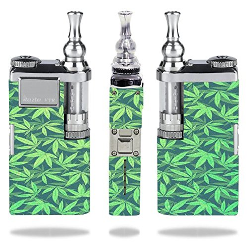 innokin-itaste-vtr-vape-e-cig-mod-box-vinyl-decal-sticker-skin-wrap-weed-pattern-green