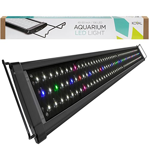 KOVAL 156 LED Aquarium Light with Extendable Brackets, 45 to 50-Inch (55 Gallon Fish Tank Hood compare prices)