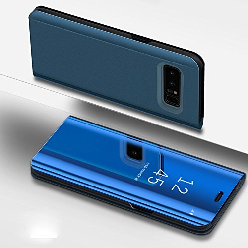 Samsung Galaxy S6 Case,IKASEFU PU Leather Electroplate Plating Stand PC Mirror Flip Folio Case Cover Protective Ultra Slim Thin Full Body Protective Case Cover for Samsung Galaxy (Instrument Folio)