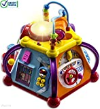 WolVol Musical Activity Cube Play Center with Lights, 15 Functions and Skills (Safety tested toy for toddlers, does not contain lead)
