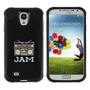 LASTONE PHONE CASE / Suave Silicona Caso Carcasa de Caucho Funda para Samsung Galaxy S4 I9500 / jam boom box music dj black rap speaker