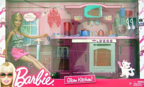 Barbie Kitchen Play Set Glam Kitchen