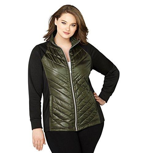 Avenue Women's Quilted Fleece Active Jacket, 18/20 - Center Avenues Women's