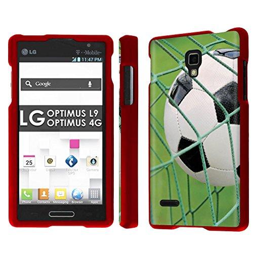 (LG Optimus L9 [P769] [MS769] / Optimus 4G Total Armor Case [NakedShield] [Rose Red] Total Armor Case - [Soccer Goal] for LG Optimus L9 [P769] [MS769] / Optimus 4G)